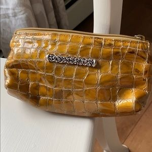 BRIGHTON Golden Patten Leather Croc Small Bag